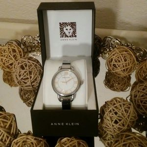 Anne Klein, silver women watch with case